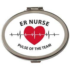 ER Nurse Pulse Of The Team Compact Mirror