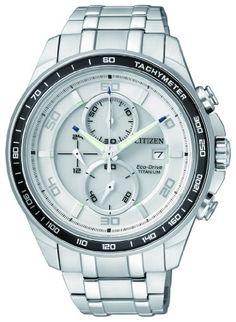 Citizen Herren-Armbanduhr XL Super Titanium Chronograph Quarz Titan CA0340-55A | Your #1 Source for Watches and Accessories