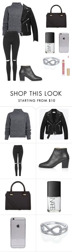 """""""B L A C K"""" by roldanroo ❤ liked on Polyvore featuring Acne Studios, Yves Saint Laurent, Topshop, Victoria Beckham and NARS Cosmetics"""