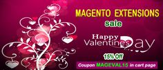 Valentine's Day offer - 15% off for #magentoextensions. Read more at http://mage-extensions-themes.com/blog/valentine-day-offer-magento-extensions/