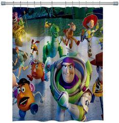 Best Disney Shower Curtains! Discover the best Disney Shower Curtains. We love decorating our bathroom with Disney shower curtains Mickey Mouse Shower Curtain, Disney Shower Curtain, Bathroom Curtains, Fabric Shower Curtains, Toy Story, Balloon Movie, Shower Rods, Disney Finding Dory, Star Wars Celebration