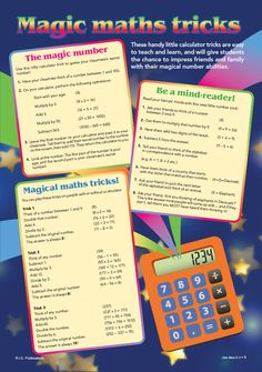 Magic maths tricks free dowload from RIC Publications