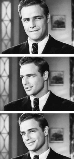 "Marlon Brando in a screen test for ""Rebel without a cause""... Fuck it, I think I love him."