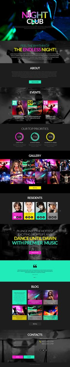 Perhaps, more so than any other industry night club websites should virtually personify the establishment they represent. Coming with the integration of popular social media platforms, the theme de...