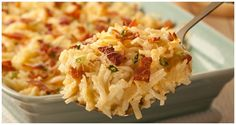 Lorraine Potatoes Broccoli Soup Recipes, Cream Of Broccoli Soup, Quiche Recipes, Potato Recipes, Vegetable Recipes, Bacon And Cheese Quiche, Macaroni And Cheese, Ore Ida, Cheesy Potatoes