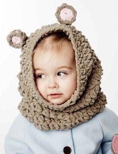 Yarnspirations.com - Bernat Mousie Snood  - Free Crochet Patterns