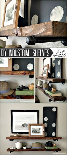How To Add Easy Industrial Shelving On The Cheap
