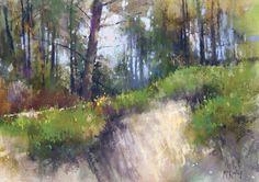 """the Landscape Interviews: Richard, McKinley, """"Hillside Textures,"""" pastel, 9 x 12 in"""