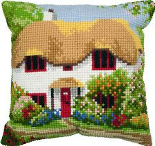 """Anchor COTTAGE Cushion Front Cross Stitch Tapestry Kit 15.75"""" SQ"""