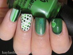 Nails by Kayla Shevonne: St. Patrick's Day Nail Art - Green Skittles