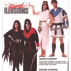 McCall's Sewing Pattern 7747 UNCUT Adult, Teen Boy's, Girl's  Costume - Cleopatra, Marc Anthony, Gladiator, Grim Reaper, Skulltar Allura  SIZE: Small 32.5-34