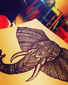 #elephant #drawing #mandala