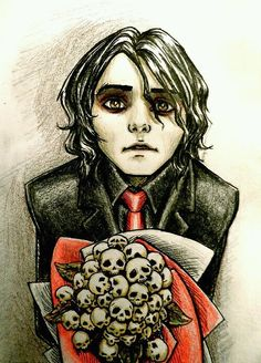 Wicked fan art, Gerard Way, MCR, my chemical romance My Chemical Romance, Emo Bands, Music Bands, Gerard Way Drawing, Gerard Way Art, Black Parade, Band Memes, Mcr Memes, Band Quotes