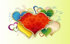Love red multicolor flowers vector hearts (1920x1200, red, multicolor, flowers, vector, hearts)  via www.allwallpaper.in