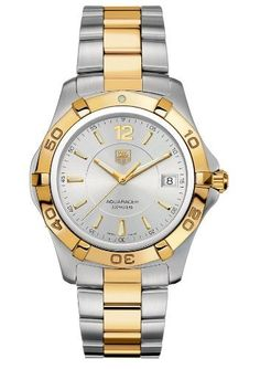 TAG Heuer Men's Aquaracer Two-Tone Watch, Tag Heuer Aquaracer Date Quartz Stainless Steel Watches Cheap Designer Shoes, Cheap Designer Handbags, Replica Handbags, Tag Heuer Monaco, Fine Watches, Women's Watches, Wrist Watches, Pre Owned Watches, Luxury Watches For Men
