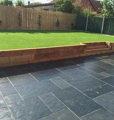 Browse images of black modern Garden designs: GALAXY SANDSTONE PAVING. Find the best photos for ideas & inspiration to create your perfect home. Back Garden Design, Modern Garden Design, Backyard Garden Design, Contemporary Garden, Garden Paving, Garden Shrubs, Modern Landscaping, Backyard Landscaping, Landscaping Ideas
