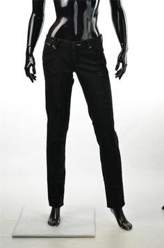 Armani Exchange Jeans Giorgio A/X Black Skinny Vintage Low Rise Pants Sz 4 NWT #ebay 5 Gables