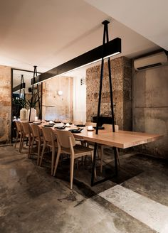 ACME is a Sydney restaurant with a refined, yet playful atmosphere. It references ACME dynamite from Looney Tunes and tunnel perspectives by Wile E Coyote.