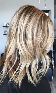 beige and honey blonde highlights