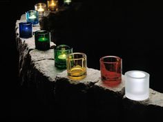 Kivi candleholders, wish I could own them in all the clours of the rainbow - so beautiful they are.