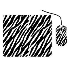 Zebra Print Mouse and Pad Set