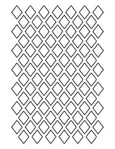 1 Inch Diamond Pattern