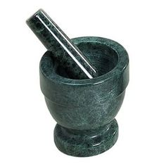 Creative Home Green Marble 4 x 4 Mortar & Pestle