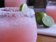 Pink Lemonade Margaritas: 1 can frozen pink lemonade ( minute maid is best); 3 cans water ( use lemonade can) 1 cans tequlia 1/2 cans grand marnier