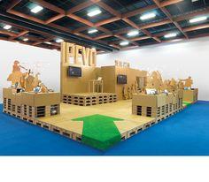 IPEVO Cardboard Booth   :        THE 100% RECYCLABLE PAVILION xrange 十一事務所