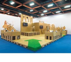 IPEVO Cardboard Booth | :               THE 100% RECYCLABLE PAVILION xrange 十一事務所