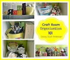 DIY Craft Room Organization Ideas
