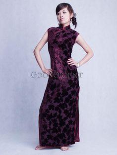 Purple Maple Leaf Chinese styled dress