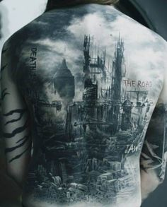 Tattoo fallen city   #Tattoo, #Tattooed, #Tattoos