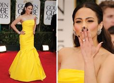 Vote for the best Golden Globes red carpet look here! #paulapatton