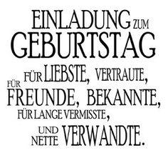 STEMPEL Einladung zum Geburtstag - www.hansemann.de: