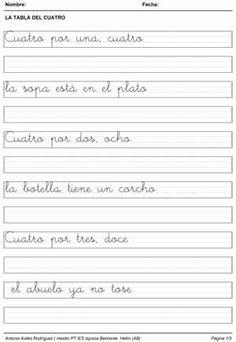Ejercicios de escritura. Copia