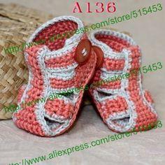 De verano para bebés la mano tejido bebé sandalias de ocio zapatos de crochet niño recién nacido zapatos y