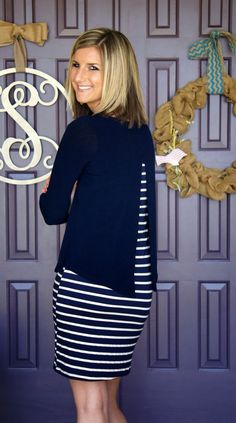 Love this! Hailey 23 - Joel Long Sleeve Layered Striped Dress