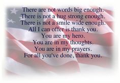 Veterans Day Thank You Poems | Thank you