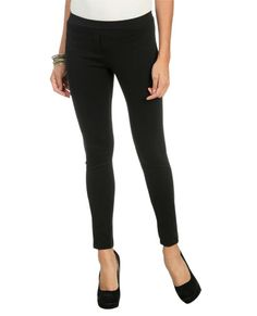 Ponte Seamed Skinny Pant from WetSeal.com