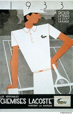 LACOSTE - Visual image released their first time in 1933