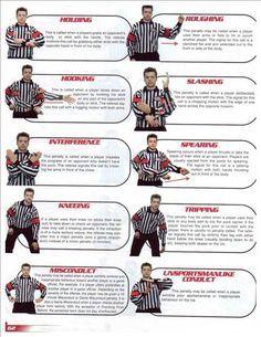 Sports Officials Signals Hockey Google Search Hockey Rules Ice Hockey Field Hockey Goalie