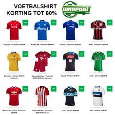 Nu bij Unisport: Voetbalshirt korting tot 80% Unisport geeft nu hoge kortingen weg op voetbalshirts tot 80%, zoals die van Chelsea, FC Barcelona, Real Madrid, FC Porto, Bayern Munchen, Benfi...