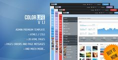 Very colorful html5 admin interface for your projects