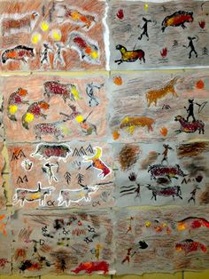 Art lessons for kids, art lessons elementary, art for kids, kindergar 2nd Grade Art, Sixth Grade, Stone Age Art, Art History Lessons, Maila, Art Lessons Elementary, Art Lesson Plans, Science Art, Art Classroom