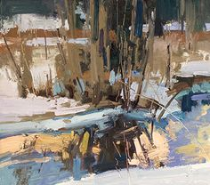 Winter Reflection by Jill Carver Oil ~ 9 x 10