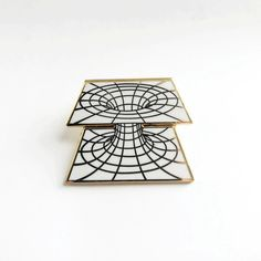 """1.25"""" gold plated hard enamel pin. Comes individually packaged with deluxe clasp."""