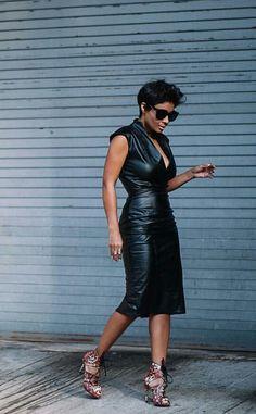 Bebe faux leather dress
