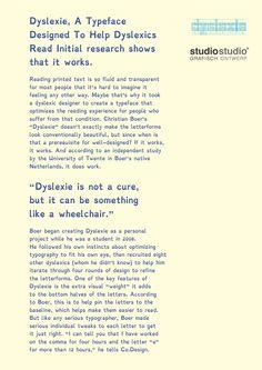 Dyslexie, a typeface designed to help dyslexics