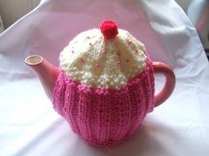 cupcake tea cosy cosie knitting pattern by Trulyscrumptiousknit, £5.00